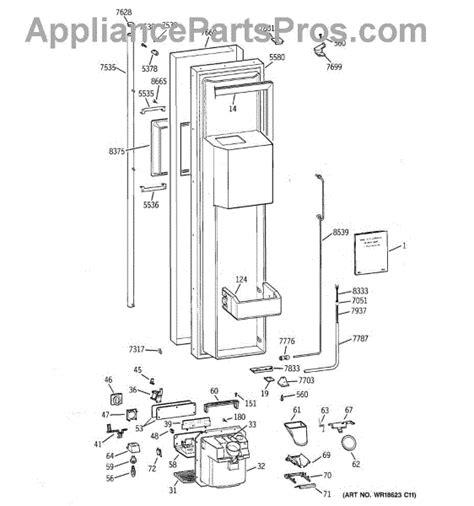parts  ge zissdcass freezer door parts appliancepartsproscom