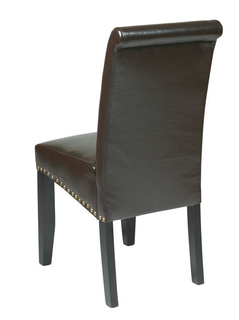 met87es office star traditional parsons dining chair in