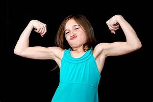 Royalty Free Flexing Muscles Little Girls Human Muscle ...