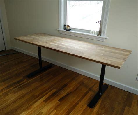ikea table bureau butcher block countertop table ikea hack butcher block