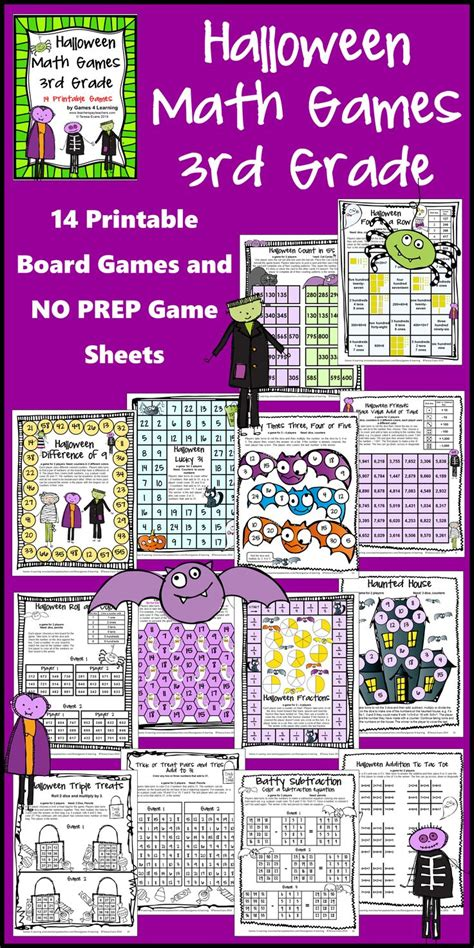 Printable Math Games For Third Graders  Third Grade Math Games Dr Mike S For Kidsall In Ten