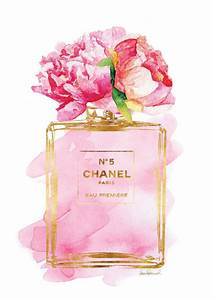 blush pink peony watercolor rose gold effect fashion art With affiche chambre bébé avec parfum fleur de rose