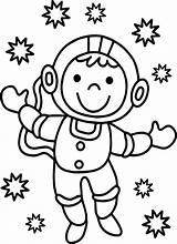 Astronaut Coloring Printable Sheet Cartoon Spaceman Getdrawings Cool Coloringbay Getcolorings sketch template
