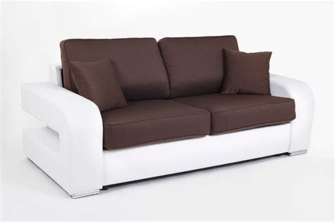 canapé basika canape convertible couchage 140 cm alban wilma blanc