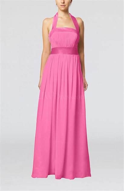 Pink Dresses Guest Rose Elegant Line Ribbon