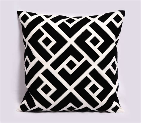 black and white pillow items similar to black and white pillow cover decorative