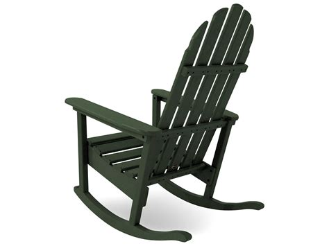 polywood 174 classic adirondack recycled plastic rocker adrc 1