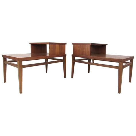 two tier end table mid century modern two tier end tables by lane for sale at