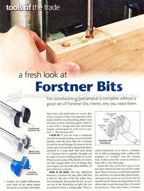 forstner bits woodworking tips woodarchivist