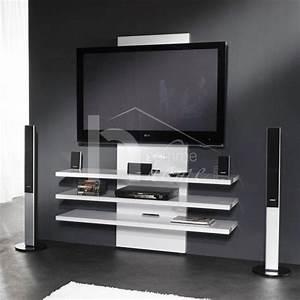 meuble tv blanc pas cher With meuble tv design blanc laque pas cher