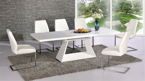 white dining table chairs white high gloss glass dining table and 8 chairs extending