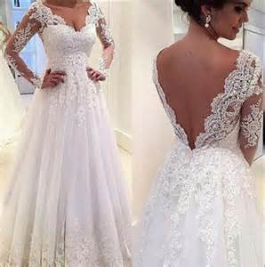 white lace wedding dress real image sleeve lace wedding dresses 2015 white illusion sheer applique v neck sheer a