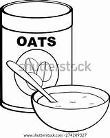 Oat Template Oatmeal Coloring Bowl Meal Pages Sketch sketch template