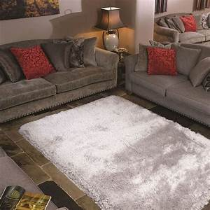 tapis shaggy carre pearl flair rugs argent 150x150 With tapis carré 150x150
