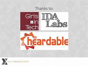 Girls In Tech Talk  Xavier  U0026 Associates Llc