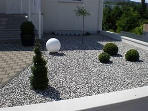 beautiful amenagement jardin avec gravier contemporary With idee deco jardin avec cailloux 6 gravier concass marbre de carrare 2230mm