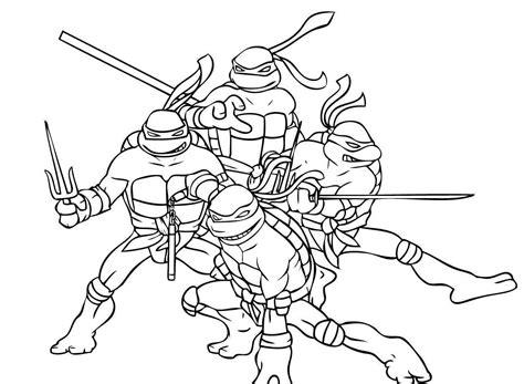 coloring book ninja turtles coloring page