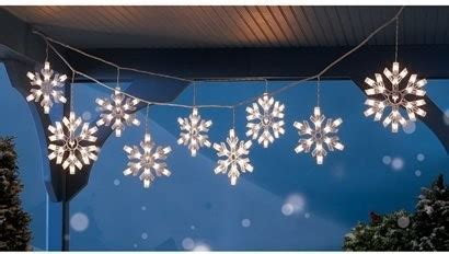 9 clear snowflake icicle string lights modern