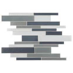 American Olean Mosaic Tile by Shop American Olean Delfino Mixed Blue Gray Linear Mosaic