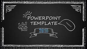 Ms Office Templates Free Blackboard Cartoon Style Powerpoint Template 10 Slides