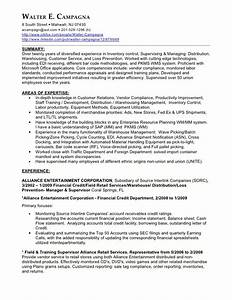 walter campagnas excellent resume with finance position With excellent resume