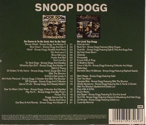 snoop dogg da game    sold    toldno limit