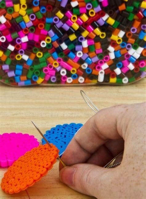 easy diy ironing beads garland  decorate  kids