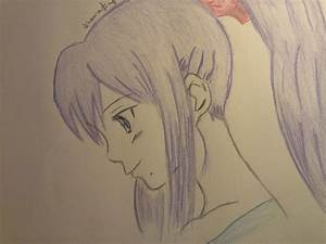 how to draw anime girl with ponytail drawing