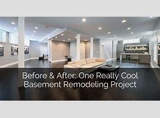 Before & After One Really Cool Basement Remodeling