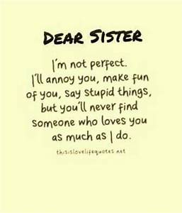 Miss you dearly... Cute Sister Bday Quotes