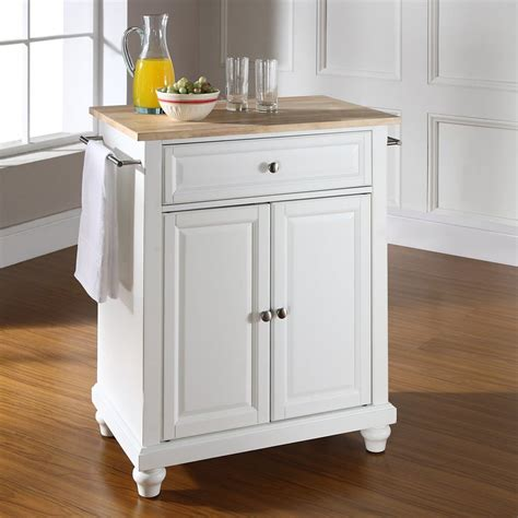 shop kitchen islands shop crosley furniture white craftsman kitchen island at 2201