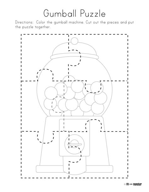 gumball puzzle free printable preschool kindergarten 493 | 749f6f53bad525689c45039454f13a82 free preschool preschool printables
