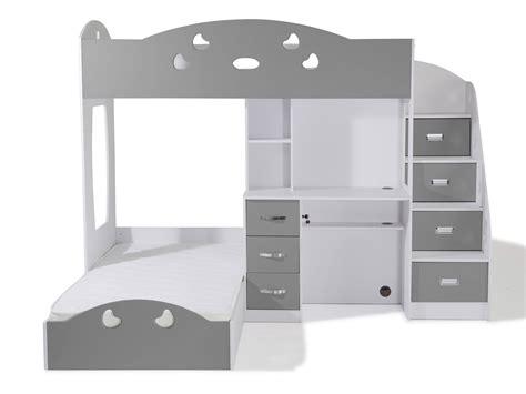 lit superposé combiné bureau lit avec rangements free lit avec rangement tiroir solano