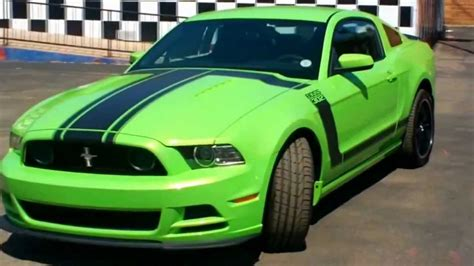 ford mustang boss  gotta   green youtube