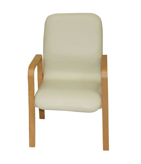 deluxe wooden waiting room chair with arms single