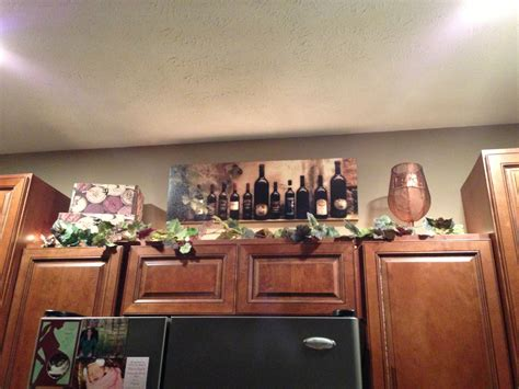 Wine Kitchen Cabinet Decorations  Home Decor Ideas
