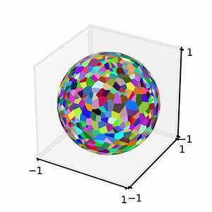 Math - Algorithm To Compute A Voronoi Diagram On A Sphere