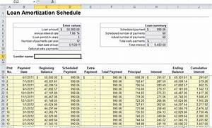 excel loan amortization formula student loan calculator With amortization formula excel template