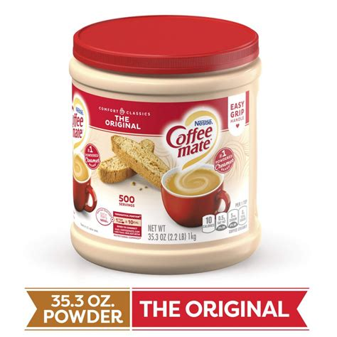 Delivering products from abroad is always free, however, your parcel may be subject to vat, customs duties or other taxes, depending on laws of the country you. Shop COFFEE MATE The Original Powder Coffee Creamer 35.3 ...
