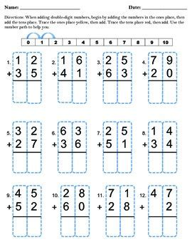 addition without regrouping worksheet for grade 1 digit addition without regrouping by missbee0331 tpt