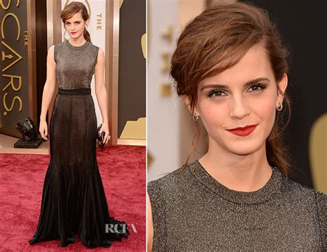 Emma Watson Vera Wang Oscars Red Carpet