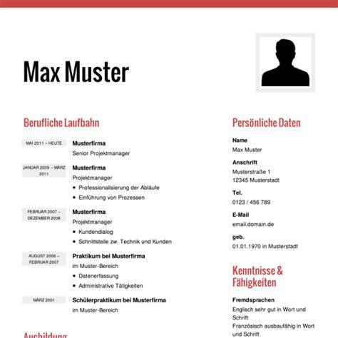 Bewerbung Lebenslauf Muster by Lebenslauf Muster Vorlagen F 252 R Die Bewerbung 2018