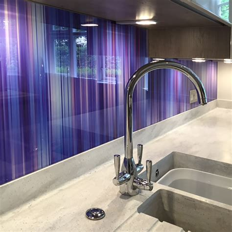 printed glass splashback produced  easy glass splashbacks
