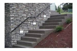 creation et renovation d39un escalier paysager en beton With escalier exterieur en beton