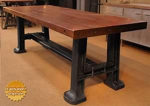 Table Salle A Manger Style Industriel : table design industriel ~ Teatrodelosmanantiales.com Idées de Décoration