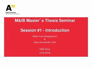 Thesis of master