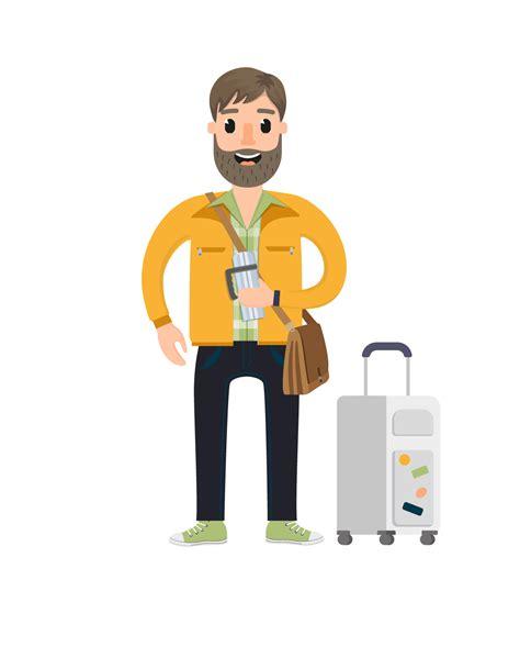 travel vector character set vector characters