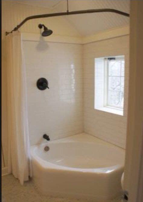 curved shower rod   jacuzzi bath