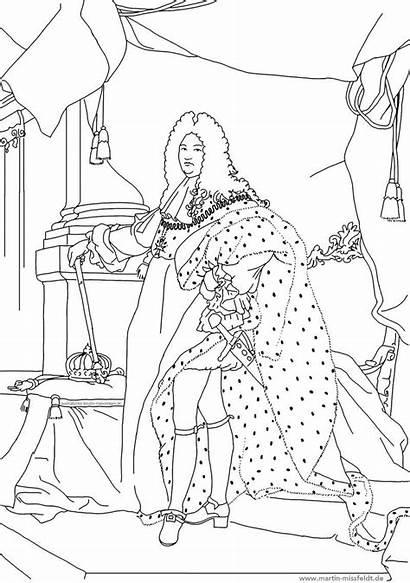 Louis Coloring Ludwig Ausmalbild Von 14th Kunst