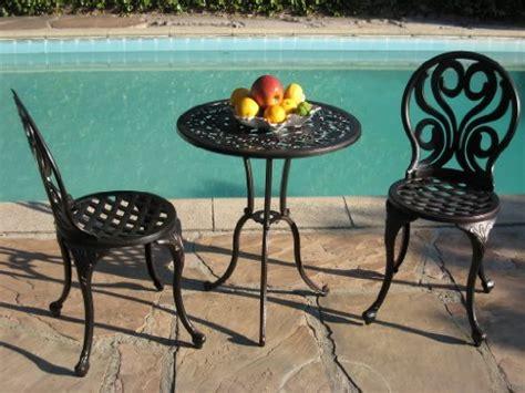 cbm outdoor patio deck cast aluminum furniture 3 peice